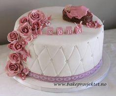 Baby Cakes, Baby Shower Cakes, Mini Cakes, Cupcake Cakes, Glitter Mason Jars, Cute Cakes, Cakes And More, Baptism Invitations, Beautiful Cakes
