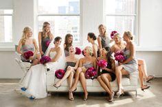 Amazing bridesmaid photo pose