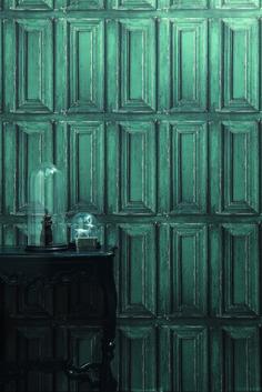 """Papier peint effet """" moulure porte """" de la collection METAPHORE par Caselio"""