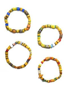 Relief Beads Bracelet Darfur Fair Trade 	•	Colorful beads are handmade from sand by African tribes 	•	Assembled by refugees in Darfur 	•	Each bracelet is one-of-a-kind 	•	Great worn alone, stacked or layered with other bracelets Artisan Country: Sudan #shoppingforachange $10.00 USD