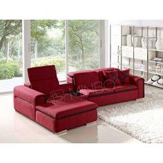 Harding Modern Red Fabric Sectional Sofa - 1725.0000
