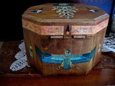 OLD WOODEN BOX (BACK)