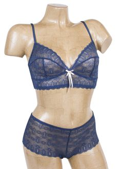 Get ready for summer in the Elle MacPherson Beach Babe Bra and Boyshort in Insignia Blue!