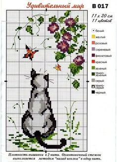 Cat cross stitch irisha-ira