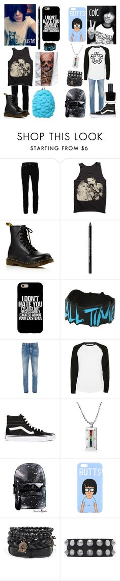 Emo couple: Dustin and Cole by xxanormalalienxx on Polyvore featuring Topman, Denham, Wood Wood, Yves Saint Laurent, RGB Cosmetics, Urban Decay, Dr. Martens, Vans, Bling Jewelry and Grace