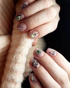 57+ Diseños de Uñas para Chicas súper Coquetos y Lindos (2019) Get Nails, Hair And Nails, Holiday Nails, Christmas Nails, Nail Tattoo, Disney Nails, Funky Nails, Minimalist Nails, Nail Decorations