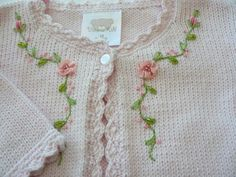 Knitting ideas sweaters english 64 ideas for 2019 Baby Knitting Patterns, Knitting For Kids, Crochet For Kids, Knitting Projects, Knit Crochet, Knitting Ideas, Baby Embroidery, Ribbon Embroidery, Embroidery Stitches