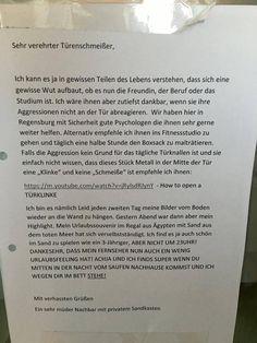 Brief an den Nachbarn