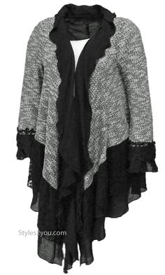 22b0cb7a513202 Rayna Victorian Vintage Lace Cardigan In Black & Gray Vintage Glam, Vintage  Ladies, Vintage