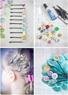 Button craft. Would be cool for a girly get together.