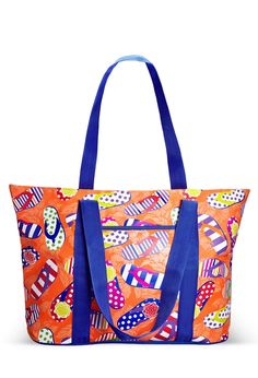 Flip Flop Print Beach Tote-Plus Size Tote-Avenue Swimwear 2015, Plus Size Swimwear, Plus Size Fashion, Diaper Bag, Thighs, Flip Flops, Crafty, Fashion Outfits, Purses