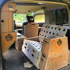 The Honda Element Micro Camper System. Install or remove in minutes. •seats two •full bed •single bed •removable camp kitchen •bike fork mount •storage cabinet •flip down worktop •center console ••••• Overhead LED's by @enohammocks Twilights. Three AAA batteries provide 72hrs of operation. ••••• Preorders coming soon. Sign up for our Newsletter ••••• FifthElementCamping.com ••••• #fifthelementcamping #hondaelement #microcamper #carcamping #longlivetheelement