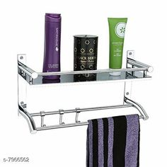 Bath Shelves KT Stainless Steel Single Layer Shelf with Towel Road,Multipurpose Bath Shelf Organizer,Kitchen Shelf/Towel self/Bathroom Shelf and Rack/Bathroom Accessories (18 Inch) Material: Stainless Steel Pack: Pack of 1 Country of Origin: India Sizes Available: Free Size   Catalog Rating: ★4.4 (591)  Catalog Name: Fancy Bath Shelves CatalogID_1312556 C132-SC1589 Code: 208-7966562-9951