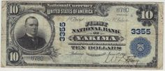 Just five other large size notes are known from this charter. We will call this one fine, but it faces up nicely. About 10 pinholes are noted.