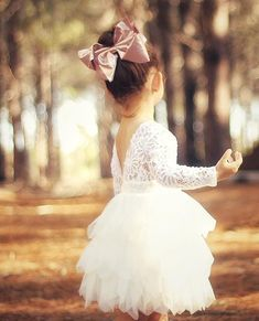 Harlow Long Sleeve Lace and Tulle Flower Girl Dress $60 AUD, Available from Nora & Elle Bridal. In Stock April 2018, Pre Order Now! Also available in sleeveless