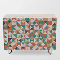 Harlequin Credenza by Office Cabinets, Bar Carts, Walnut Finish, Tv Stands, Birch, Mid-century Modern, Shelf, Vibrant, Mid Century