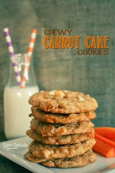 Chewy Carrot Cake Cookies   JavaCupcake.com