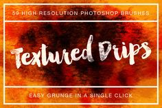 Textured Drips Brush Pack Volume 1 by Design Panoply on Creative Market