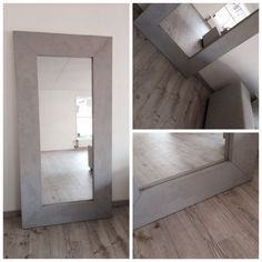 Speil malt med kalkmaling