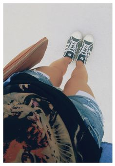 Wilfred frees, DIY ripped jean shorts & Adidas high tops
