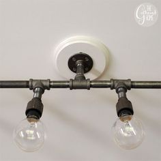 diy PVC Pipe light | The Gathered Home: How To Make A Fabulous Plumbing Pipe Light Fixture!