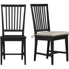Crate //  Village Black Side Chair