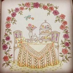 Instagram media naito.kana - できたっ #ロマンティックカントリー #COCOT #Eriy #大人の塗り絵