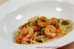 Linguine with Shrimp Sauce