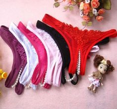 G-string Lingerie Underwear Open Crotch Thong - 6 Colours