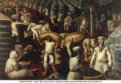 """artwork: Candido Portinari - """"Cafe"""", 1935 - Oil on Canvas - Collection of Museu Nacional de Belas Artes, Rio de Janeiro, RJ"""