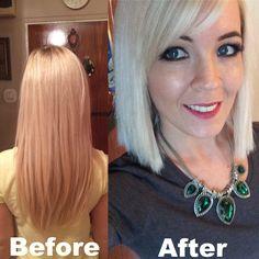blonde hair, haircut,