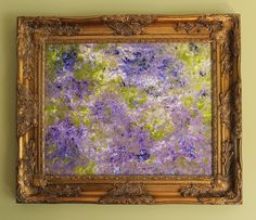 Violets Are Blue Original Abstract Impressionism by lotsahappy. $304.00, via Etsy.