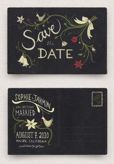 curiouscuriosities:michalva:        A Save the Date by Roxanne Daner.