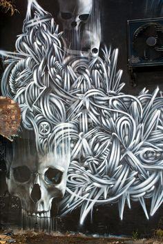 "Unkonwn Artist : ""Brighton Graffiti. Wall mural off Bond St """