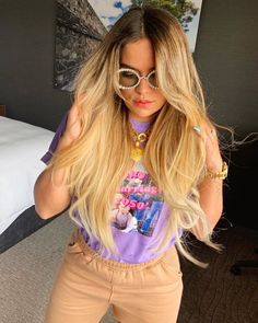 La sirena in Mexico 🇲🇽 by in Mar y Sol Kylie Jenner Workout, Girl Outfits, Casual Outfits, Celebrity Nails, Becky G, Selena Gomez, Style Icons, My Girl, Hair Color