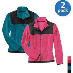 Danskin Now Women's Plus-Size Fleece Sport Jacket 2-Pack