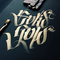 SOLID GOLD - Lettering Love... / paint brush calligraphy
