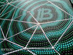 abstract dot art painting The Blockchain Tessa Smits-detail2 Bitcoin