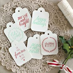Bespoke Letterpress Christmas Gift Tags