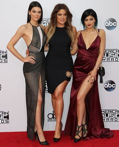 Kendall and Kylie Jenner Steal the Spotlight in Sultry Dresses at the 2014 AMAs