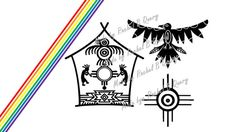 Native American Bird House File SVG DXF Personal use by RBQuery, $3.50