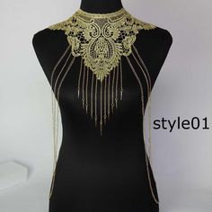 Cheap body necklace, Buy Quality body chain directly from China chain women Suppliers: Lace Body chain Women Flower Collar Choker Gold Body Chains Hollow out Gothic Big body Necklace Multilayer Party Jewelry Body Necklace, Lace Necklace, Choker Lace, Flower Necklace, Collar Choker, Necklace Chain, Collar Chain, Metal Choker, Lace Collar