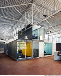 Container House - - Who Else Wants Simple Step-By-Step Plans To Design And Build A Container Home From Scratch? Warehouse Office, Warehouse Living, Warehouse Home, Warehouse Design, Building A Container Home, Container Buildings, Container Architecture, Container House Plans, Sustainable Architecture