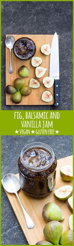 A rich and fragrant fig jam scented with vanilla bean and balsamic, perfect with fresh scones and a pot of earl grey tea.