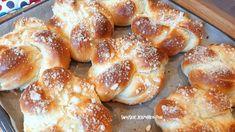 Kliknij i przeczytaj ten artykuł! Sweet Bakery, Pretzel Bites, Doughnut, Bread Recipes, Hamburger, French Toast, Sweets, Baking, Breakfast