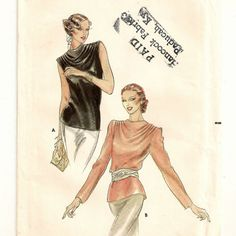 Butterick 6910, A Back Button, Sleeveless or Long Sleeve, Cowl Draped neckline Blouse Pattern by So Sew Some!