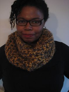 The Golden Goat Mohair Chunky Cowl Crochet Loop by LACollective
