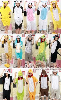 Short Sleeve Animal Adult Onesie Kigurumis... great for summer