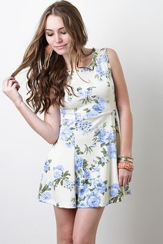 Garden Blues Dress