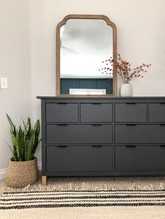 IKEA Hack: How to Update Your Furniture with Chalk Paint (and a Modern Twist) - Angela Rose Home Ikea Hacks, Ikea Furniture Hacks, Ikea Bedroom Furniture, Furniture Layout, Furniture Design, Furniture Makeover, Ikea Bedroom Design, Furniture Ideas, Loft Furniture